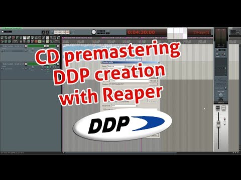 creating a CD premaster for CD duplication in Reaper as DDP incl. CD text