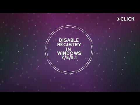 Disable Registry Edit in Windows 7/ Windows 8/ Windows 8.1