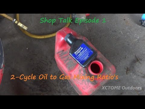 Shop Talk Episode 1 |  2-Cycle Oil to Gas Mixing Ratios | XCTOME Outdoors 1 28 18