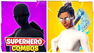 5 New SWEATIEST Superhero COMBOS in Fortnite! (Pros Use These Combos)