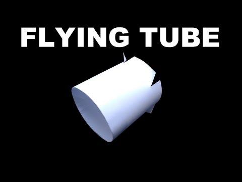 How to Make The Nigahiga Flying Tube, flying ring, vortex flyer