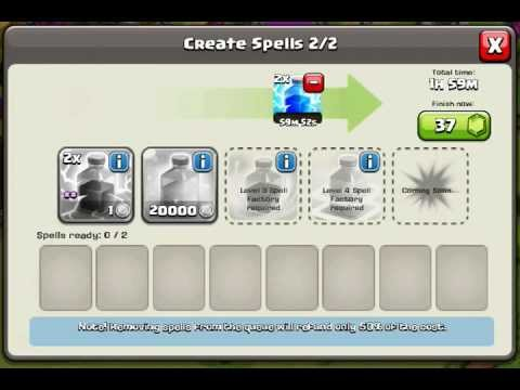 Clash of clans spell factory glitch
