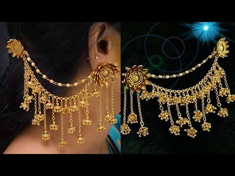 Latest New Collections Side Ear Chain DesignsChampasaralu Designs - She Fashion