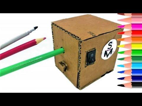 How to make a PENCIL Sharpener MACHINE / DIY School Supplies