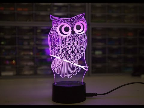 Color Changing  OWL 3D LED Lamp from GearBest
