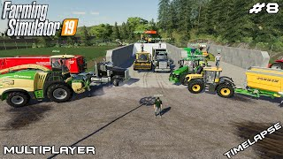 Download Harvesting wheat & grass silage | New Woodshire | Multiplayer Farming Simulator 19 | Episode 8 Video
