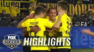 Pierre-Emerick Aubameyang completes hat trick | 2017-18 Bundesliga Highlights