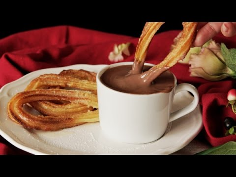 How to make baked churros with chocolate,fast food churros,how to make churros without deep frying