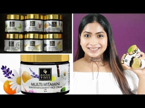 Day and Night Creams From Good Vibes - Face Creams Review | Rabia Skincare