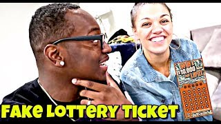 COUPLES FAKE LOTTERY TICKET PRANK ON DAD!!!!!