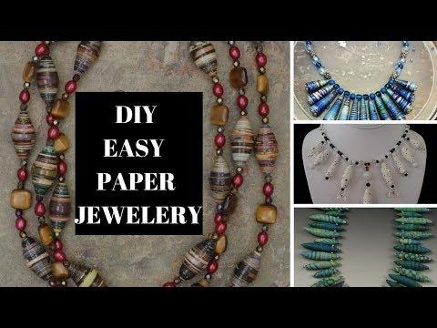 Easy DIY Paper Jewellery
