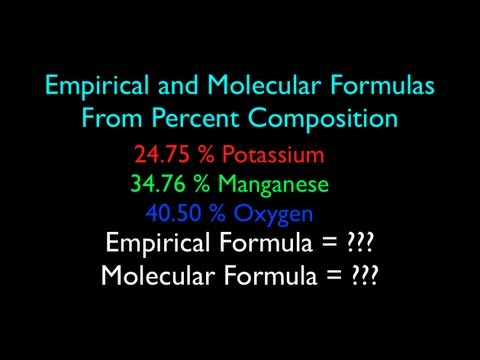 Empirical and Molecular Formula from Percent Composition (No. 2)