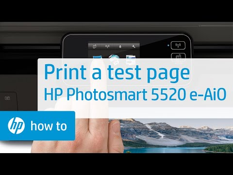Printing a Test Page - HP Photosmart 5520 e-All-in-One Printer