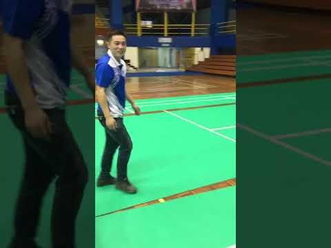 zipper badminton court mat
