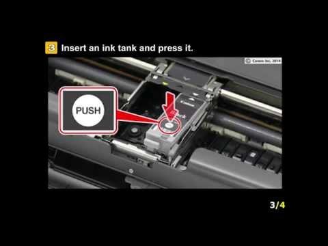 PIXMA iP110: Installing the ink tanks