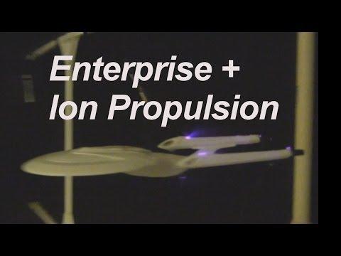 Star Trek Enterprise Model with Ion Propulsion added