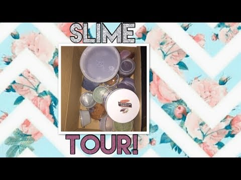 Slime tour!|all my slimes  {no asmr  included}~BeautybyDelores
