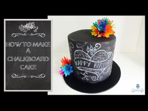 How to make a 'Back to School' Chalkboard Cake from Creative Cakes by Sharon
