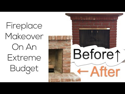 DIY Fireplace Makeover On An Extreme Budget Before & After