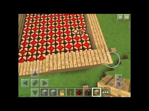 how to make light with redstone lamp in minecraft PE