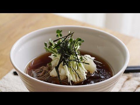 Easy Cold Soba Noodles (Buckwheat Noodles) : Honeykki 꿀키