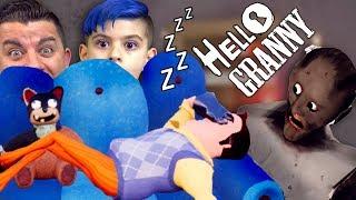 HELLO NEIGHBOR IS SLEEPING AT GRANNY'S HOUSE! Hello Granny Mod Gameplay