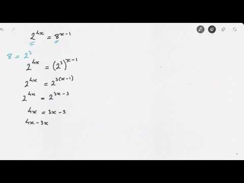 Solving Exponential Equations Video 1