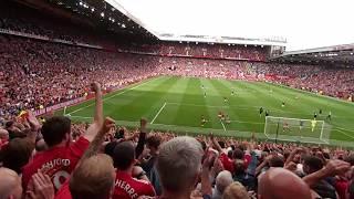 Romelu Lukaku debut goal vs West Ham (Live fan view from Stretford End 13.8.2017)