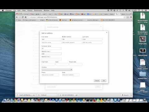 Fill Forms automatically using chrome browser with Autofill