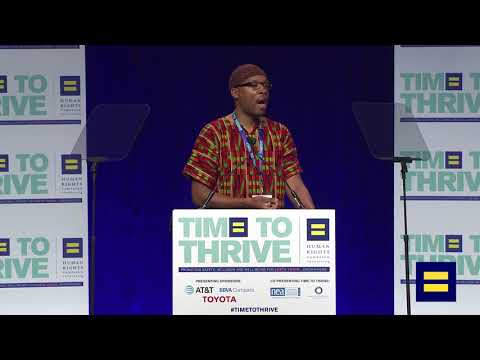 HIV 360 Fellow Daniel J. Downer at 2018 LGBTQ Time to Thrive Youth Conference