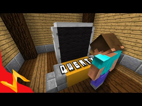 Full QWERTY Keyboard in Survival Minecraft