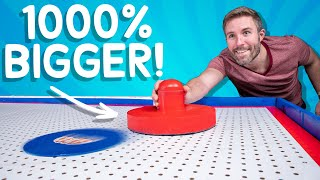 We Built the World's Largest Air Hockey Table • This Could Be Awesome #8