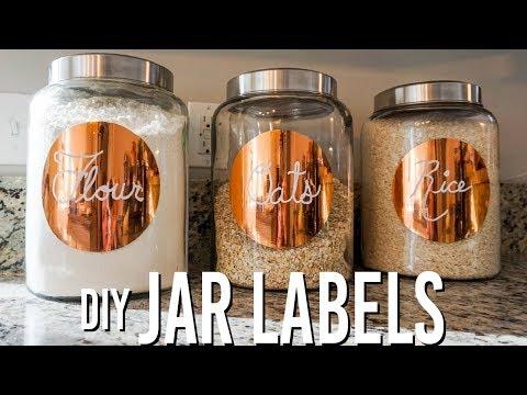 DIY Pantry/Jar Labels
