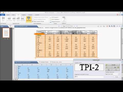 Convert Scanned PDF files into Excel