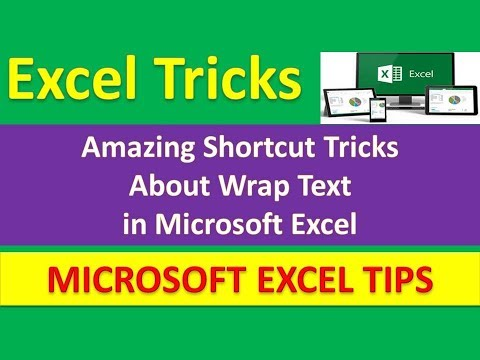 Amazing Shortcut Tricks About Wrap Text in Microsoft Excel : [Urdu / Hindi]