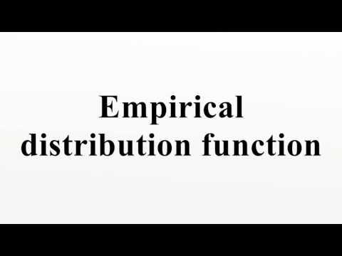 Empirical distribution function