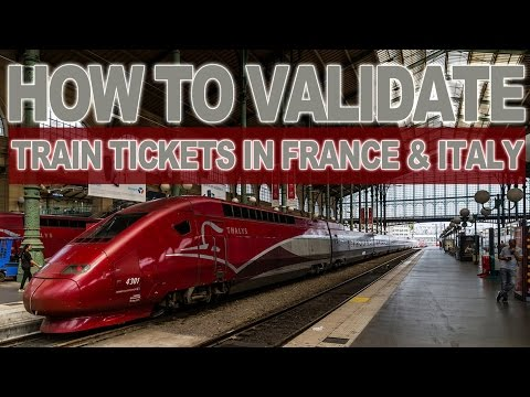 How to validate train tickets in France & Italy