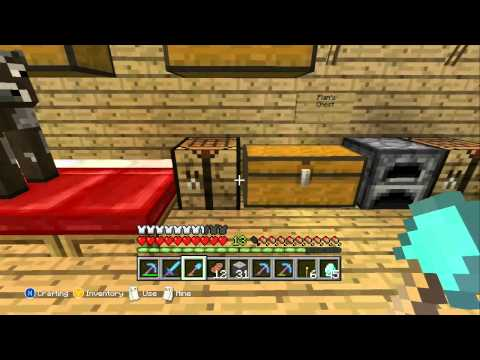Minecraft Xbox 360 - My Ideal Enchanted Tool Set.