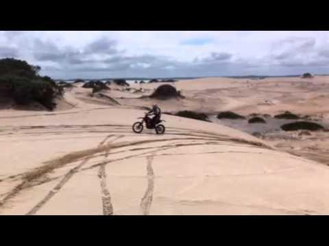 Motorbike riding at Beachport SA