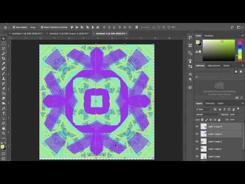 Radial Symmetry Mandala Design Photoshop CC