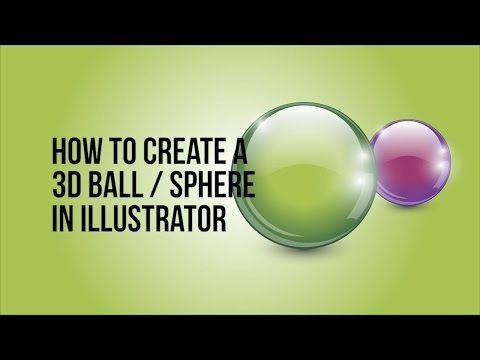 How to create a 3d ball sphere in Adobe Illustrator