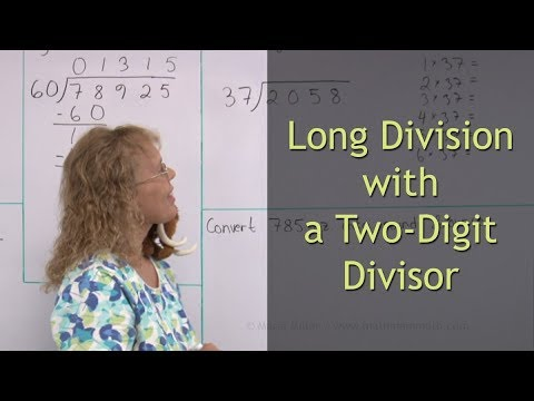 Long division with a two-digit divisor - 5th grade math