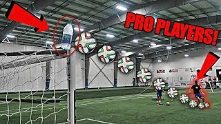 IMPOSSIBLE SOCCER TRICK SHOTS FT. PRO PLAYERS!!
