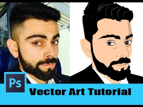 76.[Ps] AwesomeVector Art Effect - Photoshop Tutorial [In Hindi]