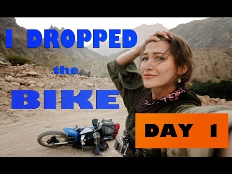 I'm by myself and I dropped the bike !!!  off to a bang on Day 1 !!! Episode 2