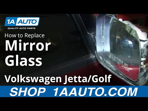 How To Install Replace Broken Mirror Glass 1999-06 VW Jetta and Golf