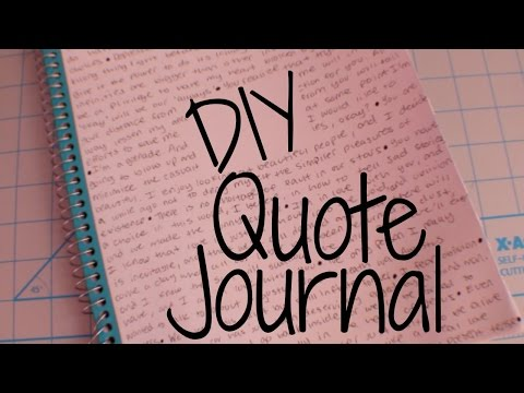 DIY - Quote Notebook