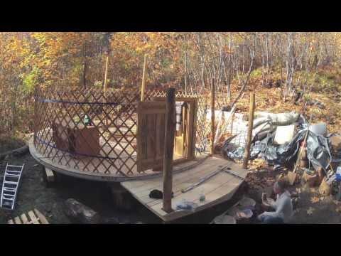 Mongolian Ger (Yurt) Set Up
