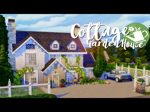 The Sims 4 | Speed Build: Cottage Garden House 🌿🐞 - Fan made stuff pack! CC build