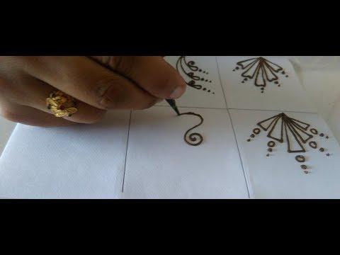 Easy mehndi design   basic mehndi design  easy mehndi tutorial 5
